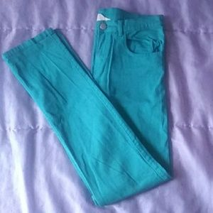 Girls Teal Blue Pant - H&M, Size 14Y+